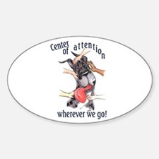 CMrl Center Of Attention Great Dane Oval Decal