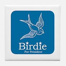 Birdie for President Tile Coaster
