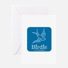 Birdie for President Greeting Cards