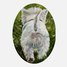 WESTIE DOG Oval Ornament