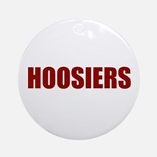 Hoosier Round Ornament