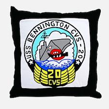 USS Bennington (CVS 20) Throw Pillow