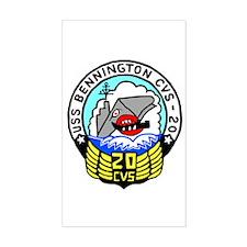 USS Bennington (CVS 20) Rectangle Decal