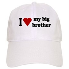 I Love My Big Brother Baseball Cap