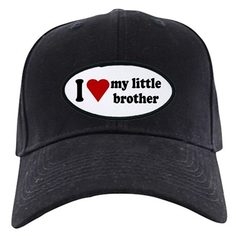 I Love My Little Brother Black Cap