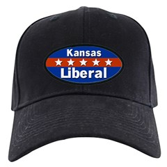 Kansas Liberal Black Baseball Cap