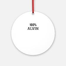 100% ALVIN Round Ornament