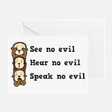 See Hear Speak No Evil Greeting Card