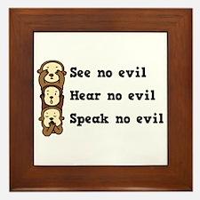 See Hear Speak No Evil Framed Tile