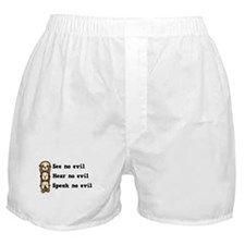 See Hear Speak No Evil Boxer Shorts