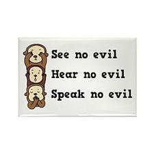 See Hear Speak No Evil Rectangle Magnet