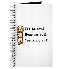 See Hear Speak No Evil Journal