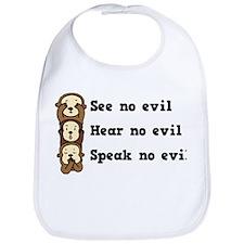 See Hear Speak No Evil Bib