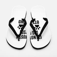I'm an Otterhound Daddy Flip Flops