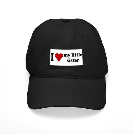 I Love My Little Sister Black Cap