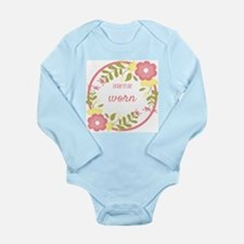 Born to be worn (pink) Long Sleeve Infant Bodysuit