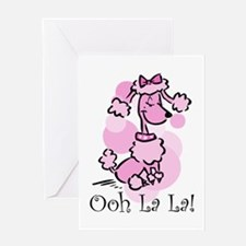 Ooh La La Poodle Greeting Card