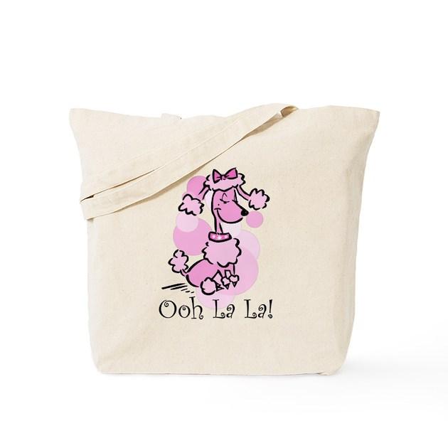 ooh la la poodle tote bag by pinkinkart