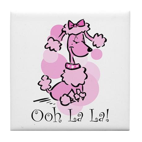 Ooh La La Poodle Tile Coaster By Pinkinkart