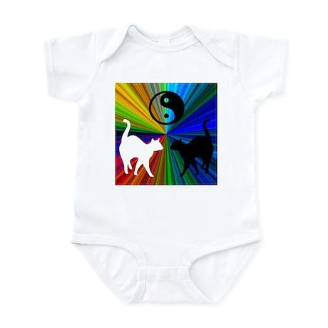 YIN-YANG RAINBOW CATS Infant Bodysuit