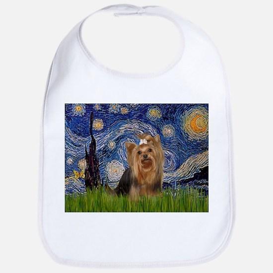 Starry Night & Yorkie #7 Bib