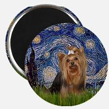 Starry Night & Yorkie #7 Magnet