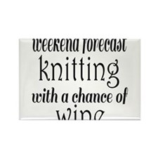 Knitting and Wine Magnets