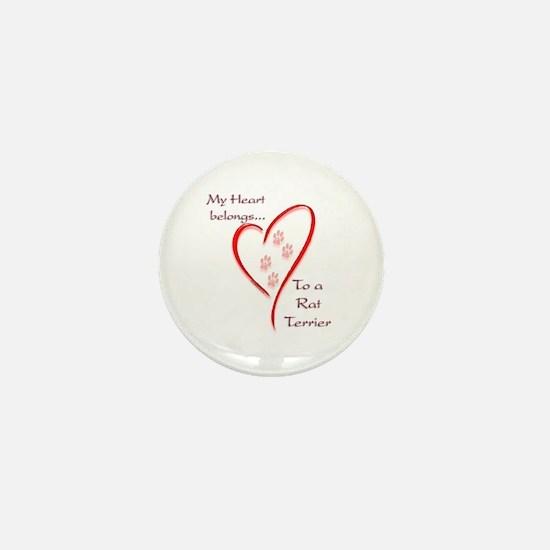 Rat HeartBelongs Mini Button