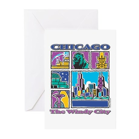 Chicago Puzzle Greeting Cards (Pk of 10)