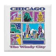 Chicago Puzzle Tile Coaster
