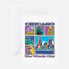 Chicago Puzzle Greeting Card