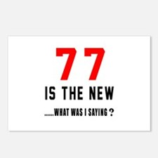 77 Is The New What Was I Postcards (Package of 8)