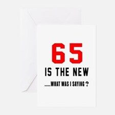 65 Is The New What Was I Greeting Cards (Pk of 10)