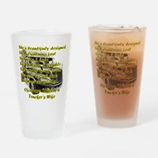 Truckers Wife She design Drinking Glass