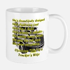 Truckers Wife She Design Mugs