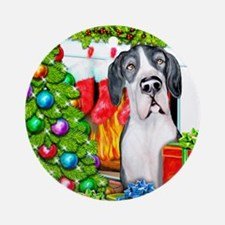 Great Dane Stockings Mantle UC Ornament (Round)