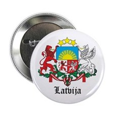 Latvia Arms with Name Button