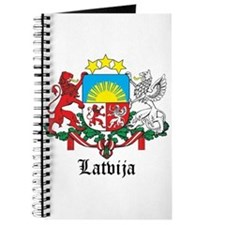 Latvia Arms with Name Journal