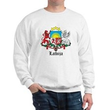 Latvia Arms with Name Sweatshirt