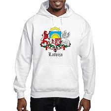 Latvia Arms with Name Hoodie