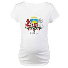 Latvia Arms with Name Shirt