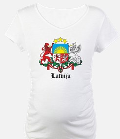 Latvia Arms with Name Shirt