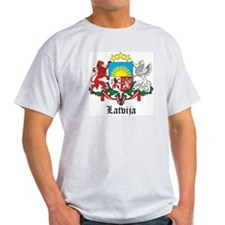 Latvia Arms with Name T-Shirt