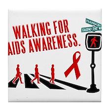 Walking for AIDS Awareness Tile Coaster