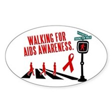 Walking for AIDS Awareness Oval Decal