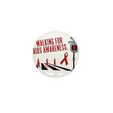 Walking for AIDS Awareness Mini Button