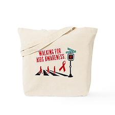 Walking for AIDS Awareness Tote Bag