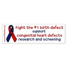 """Fight the #1 birth defect"" Bumper Bumper Sticker"