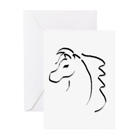 Horse Calligraphy Greeting Card