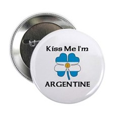 """Kiss Me I'm Argentine 2.25"""" Button (10 pack)"""